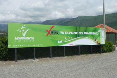 Primera Valla del Movimiento VisitaEcuador